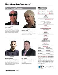 Maritime Logistics Professional Magazine, page 6,  Q3 2015