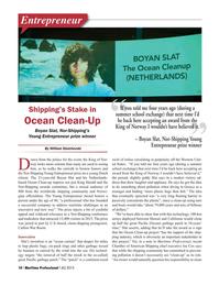 Maritime Logistics Professional Magazine, page 10,  Q4 2015