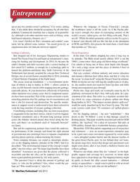 Maritime Logistics Professional Magazine, page 12,  Q4 2015