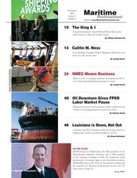 Maritime Logistics Professional Magazine, page 2,  Q4 2015