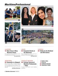 Maritime Logistics Professional Magazine, page 4,  Q4 2015