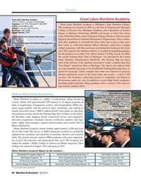 Maritime Logistics Professional Magazine, page 58,  Q4 2015