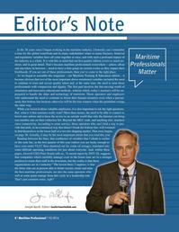 Maritime Logistics Professional Magazine, page 8,  Q1 2016