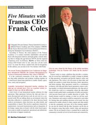 Maritime Logistics Professional Magazine, page 42,  Q1 2016