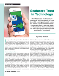 Maritime Logistics Professional Magazine, page 48,  Q1 2016
