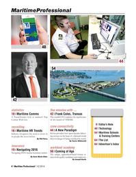 Maritime Logistics Professional Magazine, page 4,  Q1 2016