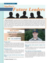 Maritime Logistics Professional Magazine, page 12,  Q2 2016