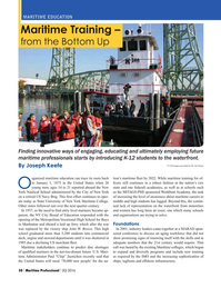 Maritime Logistics Professional Magazine, page 50,  Q2 2016