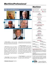 Maritime Logistics Professional Magazine, page 4,  Q2 2016