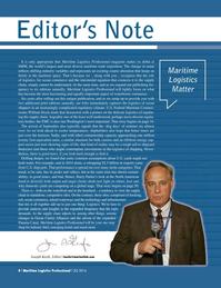 Maritime Logistics Professional Magazine, page 8,  Q3 2016