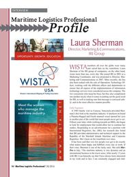 Maritime Logistics Professional Magazine, page 16,  Q3 2016