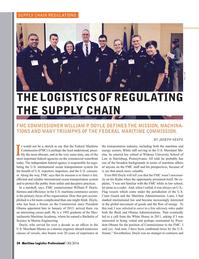 Maritime Logistics Professional Magazine, page 34,  Q3 2016