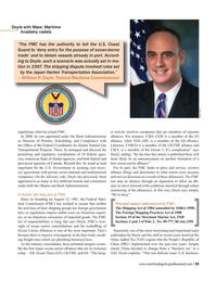 Maritime Logistics Professional Magazine, page 35,  Q3 2016
