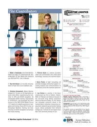 Maritime Logistics Professional Magazine, page 4,  Q3 2016