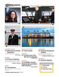 Maritime Logistics Professional Magazine, page 6,  Q3 2016
