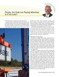 Maritime Logistics Professional Magazine, page 13,  Q4 2016