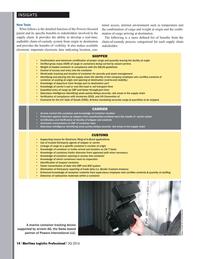 Maritime Logistics Professional Magazine, page 14,  Q4 2016