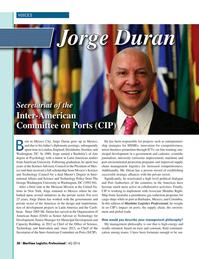 Maritime Logistics Professional Magazine, page 20,  Q4 2016