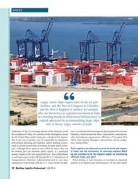 Maritime Logistics Professional Magazine, page 22,  Q4 2016