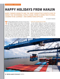 Maritime Logistics Professional Magazine, page 26,  Q4 2016