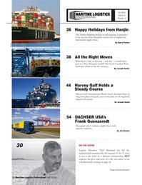 Maritime Logistics Professional Magazine, page 2,  Q4 2016