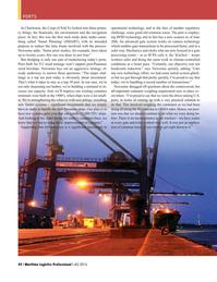 Maritime Logistics Professional Magazine, page 42,  Q4 2016