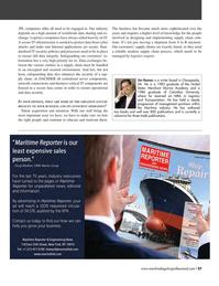 Maritime Logistics Professional Magazine, page 57,  Q4 2016