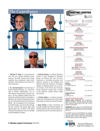 Maritime Logistics Professional Magazine, page 4,  Q4 2016