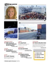 Maritime Logistics Professional Magazine, page 6,  Q4 2016