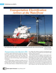 Maritime Logistics Professional Magazine, page 40,  Jan/Feb 2017
