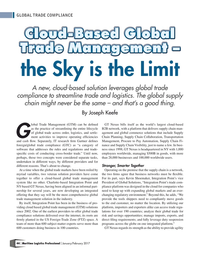 Maritime Logistics Professional Magazine, page 44,  Jan/Feb 2017