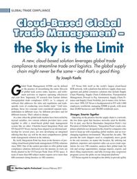 Maritime Logistics Professional Magazine, page 44,  Jan/Feb 2017