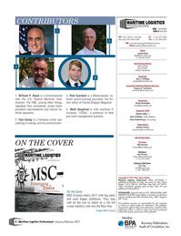 Maritime Logistics Professional Magazine, page 4,  Jan/Feb 2017