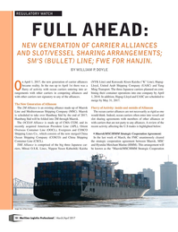 Maritime Logistics Professional Magazine, page 10,  Mar/Apr 2017