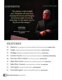 Maritime Logistics Professional Magazine, page 2,  Mar/Apr 2017