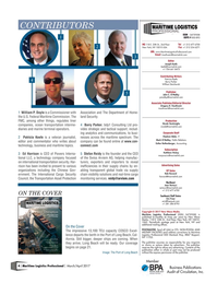 Maritime Logistics Professional Magazine, page 4,  Mar/Apr 2017