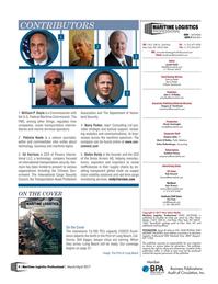 Maritime Logistics Professional Magazine, page 4,  Mar/Apr 2017