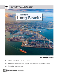 Maritime Logistics Professional Magazine, page 6,  Mar/Apr 2017