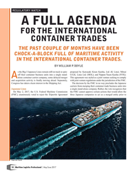 Maritime Logistics Professional Magazine, page 10,  May/Jun 2017