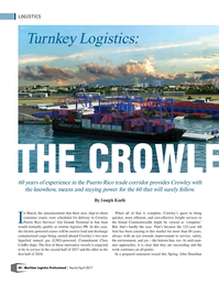 Maritime Logistics Professional Magazine, page 40,  May/Jun 2017