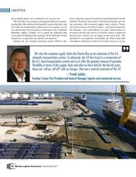 Maritime Logistics Professional Magazine, page 44,  May/Jun 2017