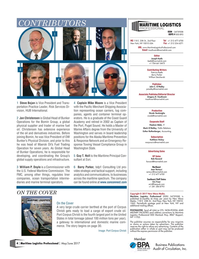 Maritime Logistics Professional Magazine, page 4,  May/Jun 2017