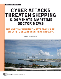 Maritime Logistics Professional Magazine, page 10,  Jul/Aug 2017