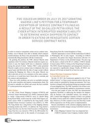 Maritime Logistics Professional Magazine, page 12,  Jul/Aug 2017
