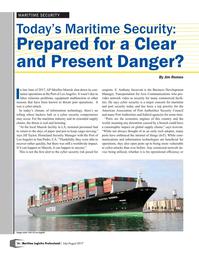 Maritime Logistics Professional Magazine, page 16,  Jul/Aug 2017