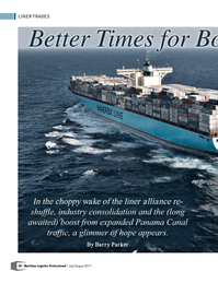 Maritime Logistics Professional Magazine, page 30,  Jul/Aug 2017