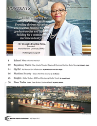 Maritime Logistics Professional Magazine, page 2,  Jul/Aug 2017