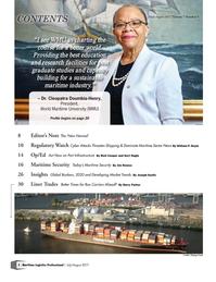 Maritime Logistics Professional Magazine, page 2,  Jul/Aug 2017