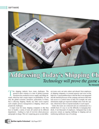 Maritime Logistics Professional Magazine, page 54,  Jul/Aug 2017