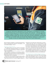 Maritime Logistics Professional Magazine, page 56,  Jul/Aug 2017